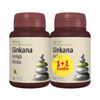 Ginkana (Ginkgo biloba) 40mg, 30 cps+30 cps gratis, Alevia
