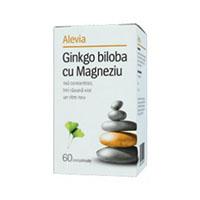 Ginkgo biloba cu Magneziu 60 cpr, Alevia