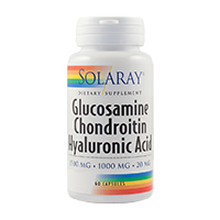 Glucosamine Chondroitin Hyaluronic Acid 60 cps, Solaray