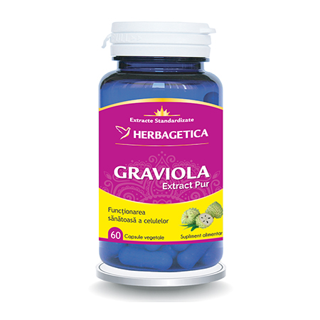 Graviola Extract Pur 60 cps, Herbagetica