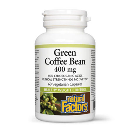 Green Coffee Bean - Svetol (extract din cafea verde) 400mg 60 cps, Natural Factors