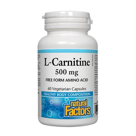 L-Carnitine 500 mg 60 cps, Natural Factors