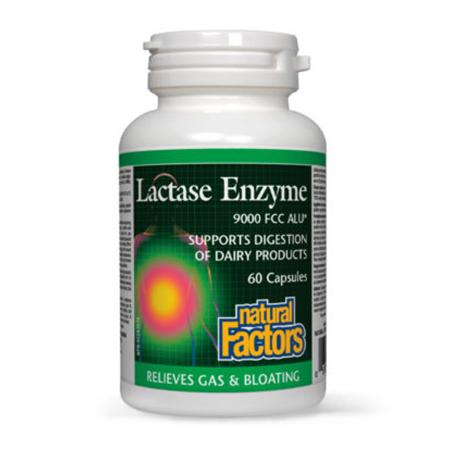 Lactaza 250mg 60 cps, Natural Factors