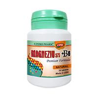 Magneziu 375 + B6 Premium Formula 30 tbl, Cosmo Pharm