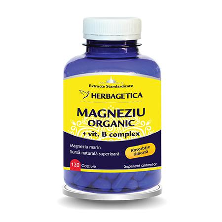 Magneziu Organic 120 cps, Herbagetica