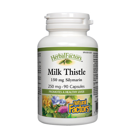 Milk Thistle din Armurariu (Sylibum Marianum) 250 mg 90 cps, Natural Factors