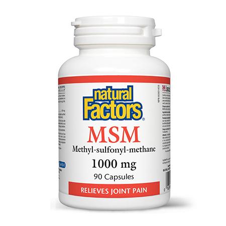 MSM 1000 mg 90 cps, Natural Factors