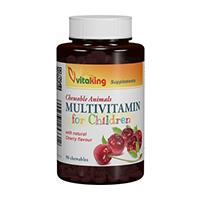 Multivitamine cu Minerale pentru copii 90 cpr, Vitaking