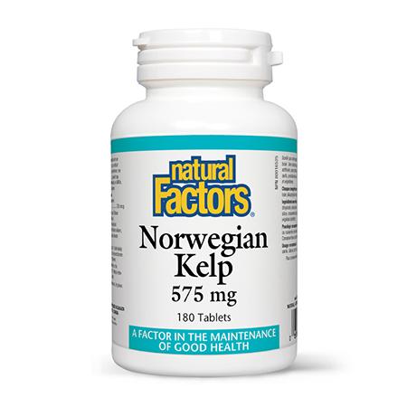 Norwegian Kelp (Kelp Norvegian) 575mg 180 tbl, Natural Factors