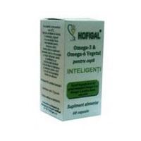 Omega - 3 & Omega - 6 vegetal pentru copii inteligenti 60 cps, Hofigal