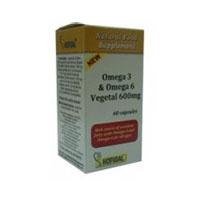 Omega - 3 & Omega - 6 vegetal 600mg 60 cps, Hofigal