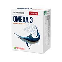 Omega 3 cu ulei de peste 30 cps, Parapharm