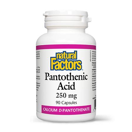 Pantothenic Acid (Vitamina B5) 250mg 90 cps, Natural Factors