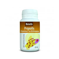 Benefe Propolis Vitamina C cu Echinacea 50 cp