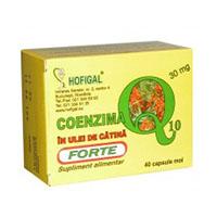 Coenzima Q10 in ulei de catina forte 30mg 40 cps, Hofigal