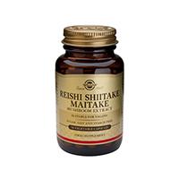 Extract de ciuperci Reishi Shiitake Maitake 50 cps, Solgar