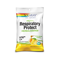 Respiratory Protect HerbaLozenge Lemon Honey Soother 18 dropsuri, Solaray