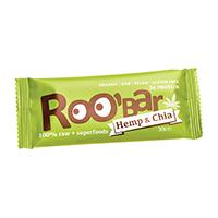 Baton proteic raw bio cu chia si canepa 30 g, Roobar
