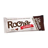 Baton proteic chia si ciocolata raw bio 60 g, Roobar
