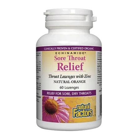 Sore Throat Relief 60 tbl, Natural Factors