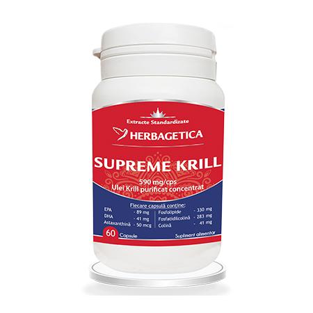 Supreme Krill Omega3 Forte 60 cps, Herbagetica