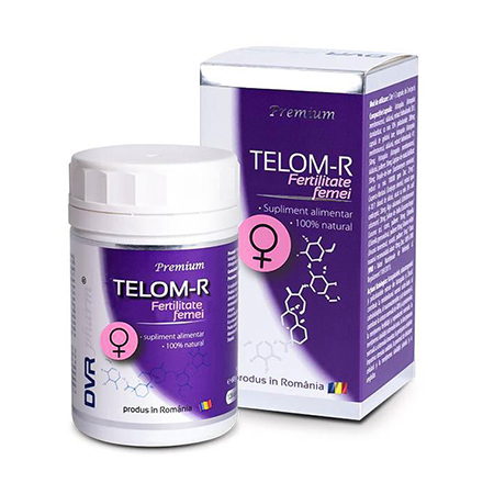 Telom-R Fertilitate Femei 120 cps, DVR Pharm
