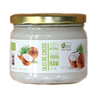 Ulei de cocos virgin raw bio 250g, Obio