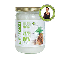 Ulei de cocos virgin raw bio 450g, Obio