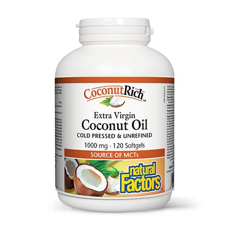 Ulei de cocos biologic extravirgin 1000mg 120 cps, Natural Factors