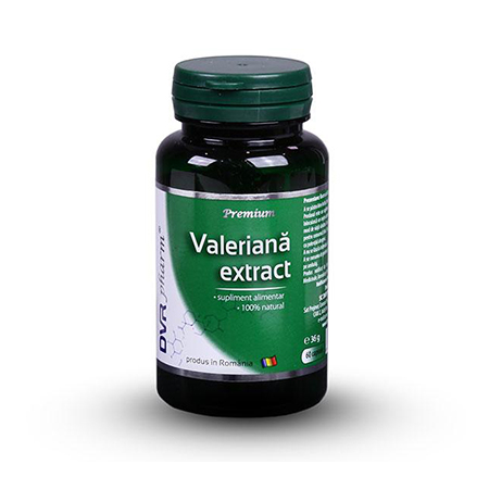 Valeriana Extract 60 cps, DVR Pharm