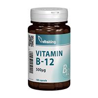 Vitamina B12 (Cianocobalamina) 500mcg 100 cps, Vitaking