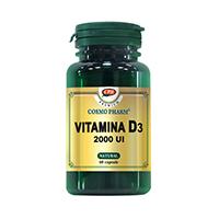 Vitamina D3 2000 UI 60 cps, Cosmo Pharm