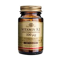 Vitamina K1 (Vitamin K1) 100 μg 100 tbl, Solgar