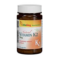 Vitamina K2 Naturala 90 mcg 30 cps, Vitaking
