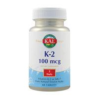Vitamin K - 2 100 mcg 30 tb, KAL