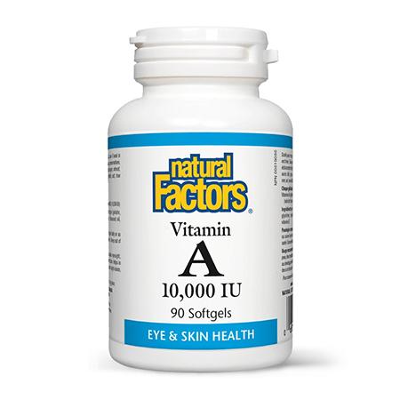 Vitamina A 10.000UI 90 cps, Natural Factors