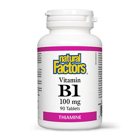 Vitamina B1 (Tiamina) 100mg 90 tbl, Natural Factors