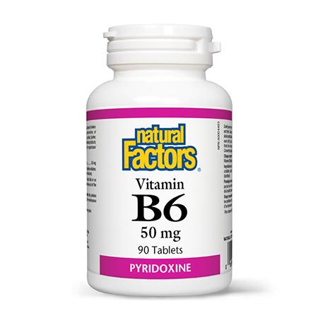Vitamina B6 (Piridoxina) 50mg 90 tbl, Natural Factors