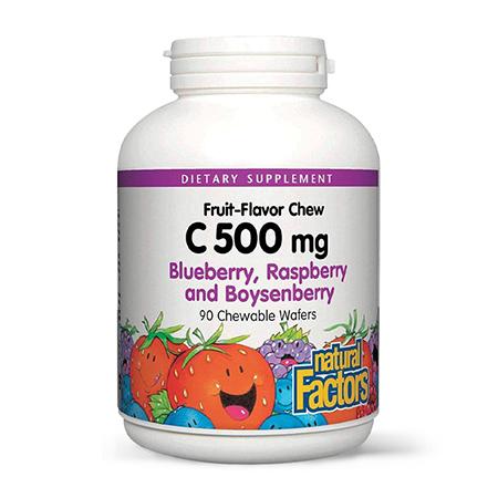 Vitamina C-500 500 mg 90 tbl masticabile, Natural Factors