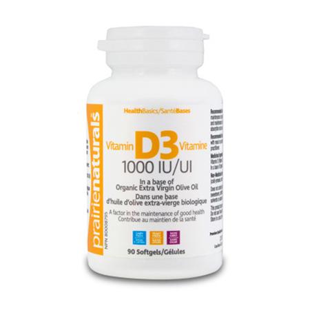 Vitamina D3 Forte 1000 UI 90 cps, PrairieNaturals