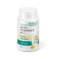 Vitamina E naturala 45 U.I. 30 cps, Rotta Natura