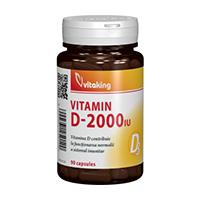 Vitamina D 2000UI 90 cps, Vitaking