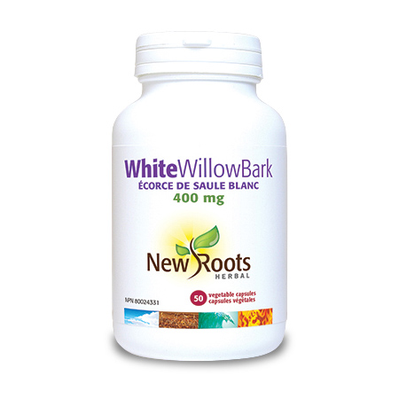 White Willow Bark 400 mg 50 cps, New Roots